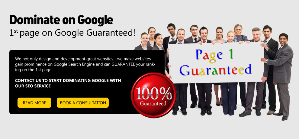 Top Page Guarantee in Google Search Results
